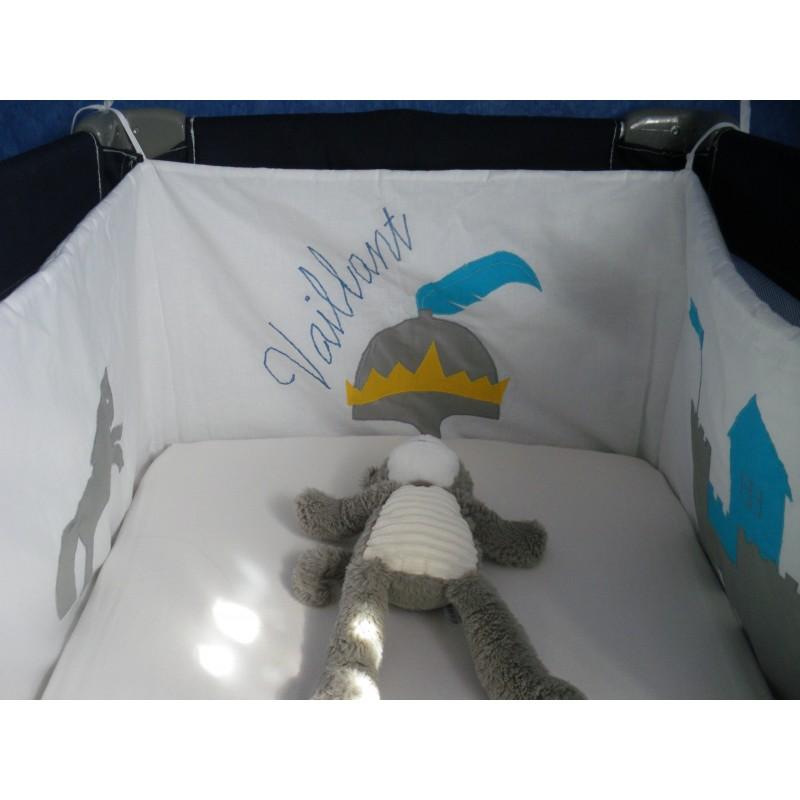 Tour de lit personnalisé CHEVALIER
