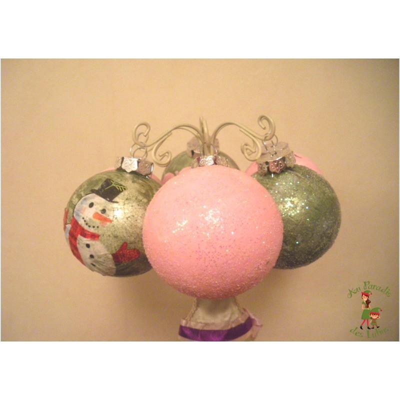 Pack Boules de Noël décorées